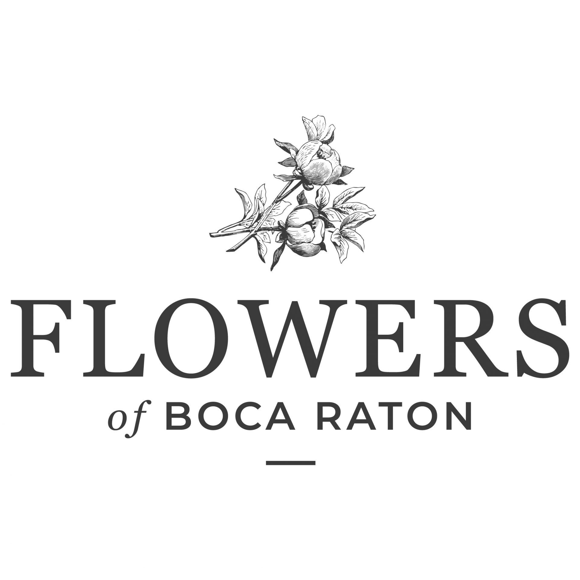 Flowers of Boca Raton - Logo